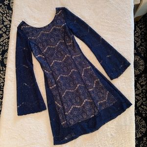Blue Lace Dress Size XS Xhilaration Homecoming!